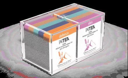Εικόνα της INTEA Ακρυλική Θήκη με 40 φακελάκια-πυραμίδες σε ατομική συσκευασία